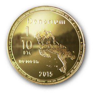 Denarium 1 10 BTC Gold Plated
