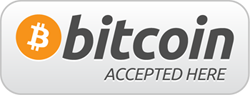 Bitcoin accepted here logo