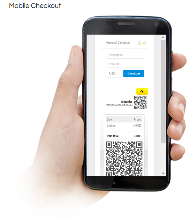 Bitcoin Mobile Checkout