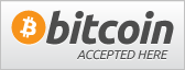 We proudly accept Bitcoin