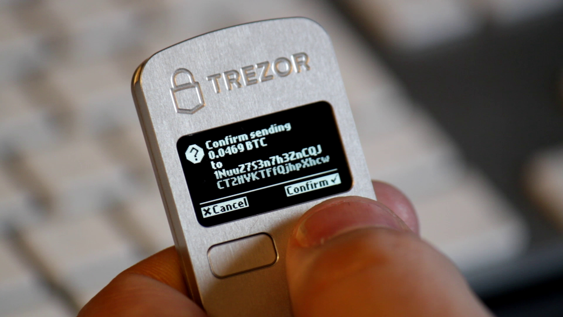 be77a78c1f Confirming the transaction with Trezor