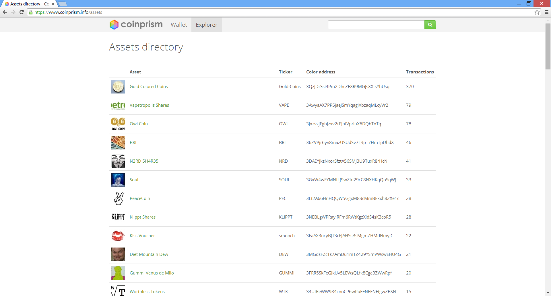 Coinprism asset directory.png
