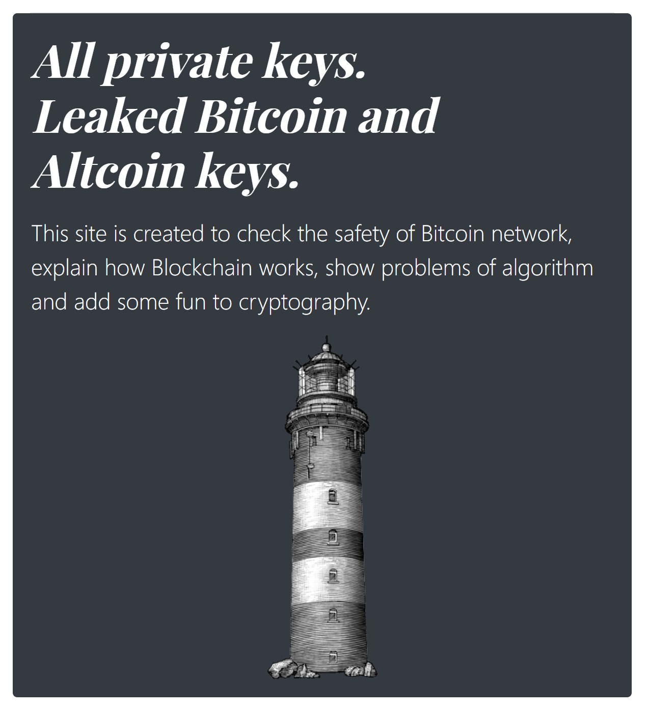 All Bitcoin Private Keys